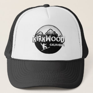 Kirkwood California black white snowboarder hat