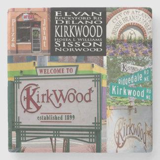 Kirkwood Collage, Atlanta Marble Stone Coaster. Stone Coaster