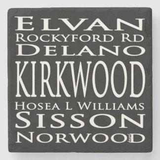 Kirkwood Subway Sign, Atlanta Marble Coaster. Stone Coaster