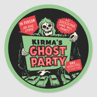 Kirma's Ghost Party Spook Show Poster Sticker
