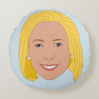 Kirsten Gillibrand Round Pillow