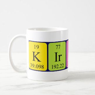 Kirsten periodic table name mug