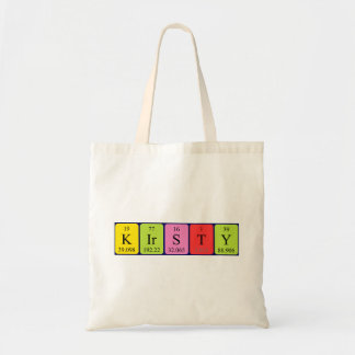 Kirsty periodic table name tote bag