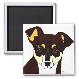 Kisha Chihuahua Magnet - White