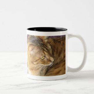 Kishka glitters in gold mug