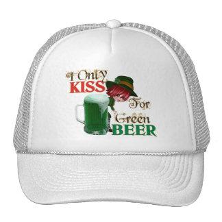 Kiss 4 Beer - St Patrick's Trucker Hats