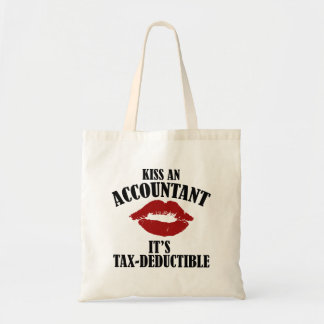 kiss an accountant funny CPA Tote Bag