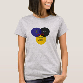 Kiss Class Venn Diagram #2. Large Logo T-Shirt