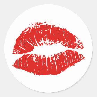 kiss classic round sticker