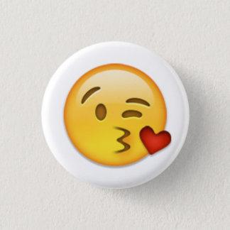 Kiss Face Emoji 1 Inch Round Button