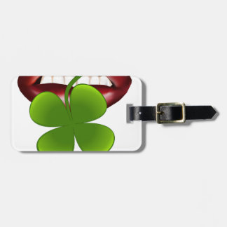 kiss hot irish gift t shirt luggage tag