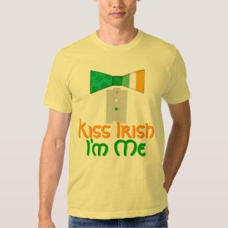 Kiss Irish I'm Me Bow Tie St. Patrick´s Day Party Tee Shirts