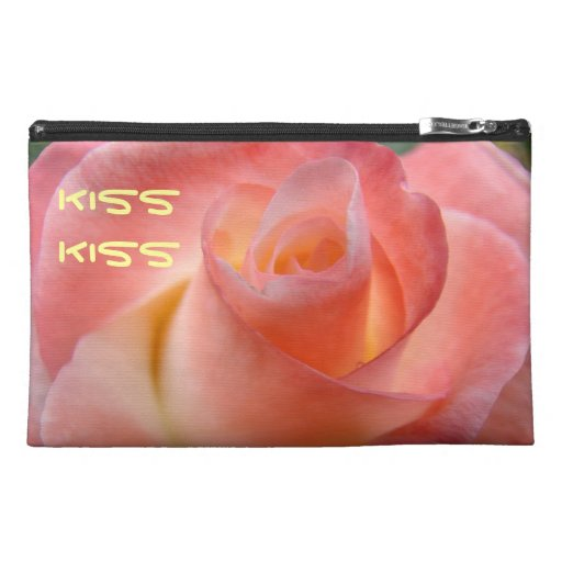 Kiss Kiss travel accessory bags Pink Rose Love