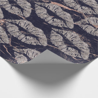 Kiss Lips Makeup Blush Rose Gray Marble Grungy Wrapping Paper