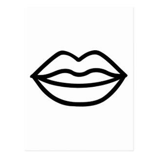 Kiss Lips Mouth Postcard