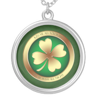 Kiss Me All You Want Shamrock Necklace