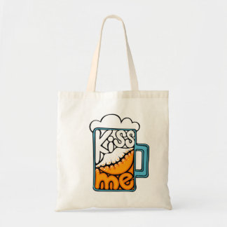 kiss me - beer icon tote bag
