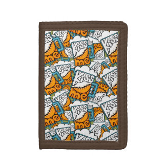 kiss me - beer icon trifold wallet