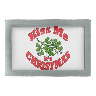 kiss me belt buckle