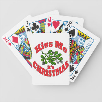 kiss me bicycle playing cards
