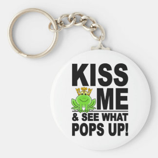 KISS ME Frog key chain