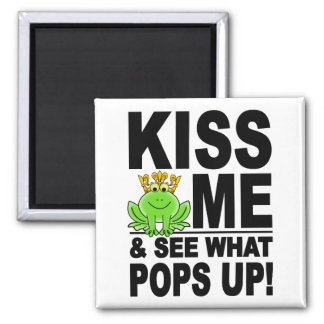 KISS ME Frog magnet