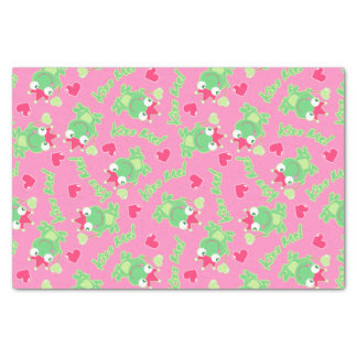 Kiss me frog tissue paper