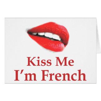 Kiss Me I Am French Card
