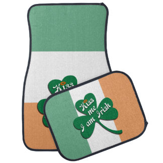 Kiss me I am Irish Car Mat