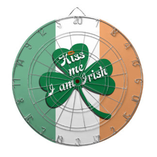 Kiss me I am Irish Dartboard