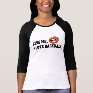 Kiss Me I Love Baseball T-Shirt
