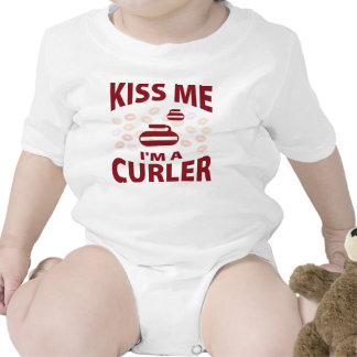 Kiss Me I m A Curler Rompers