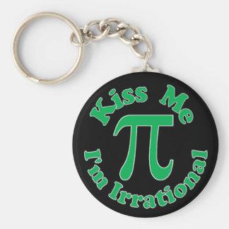 Kiss me I m Irrational Keychains