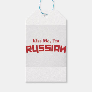 kiss-me-i-m-russian pack of gift tags