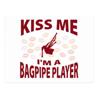 Kiss Me I'm A Bagpipe Player Postcard