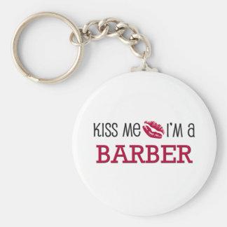 Kiss Me I'm a BARBER Keychain