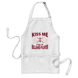 Kiss Me I'm A Billiard Player Standard Apron