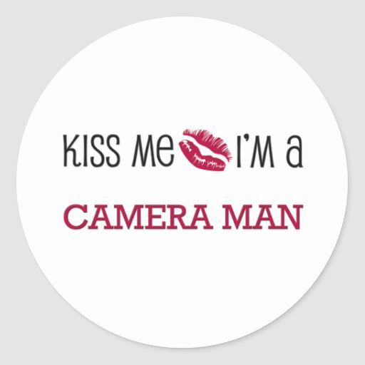 Kiss Me I'm a CAMERA MAN Sticker