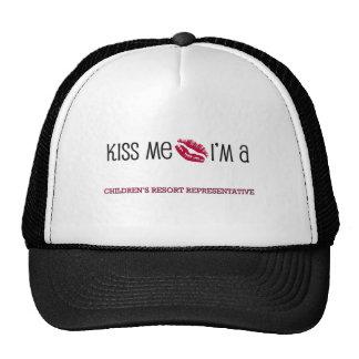 Kiss Me I'm a CHILDREN'S RESORT REPRESENTATIVE Hat