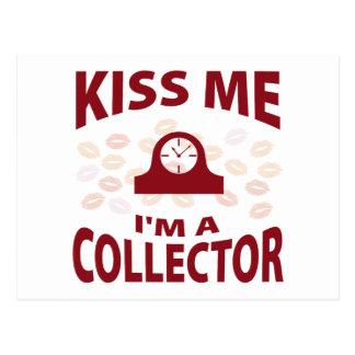 Kiss Me I'm A Collector Postcards