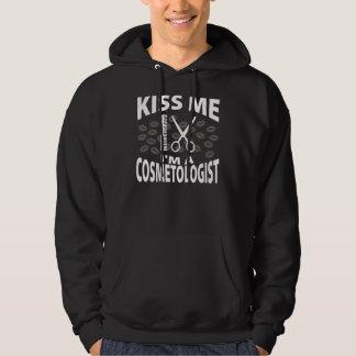 Kiss Me I'm A Cosmetologist Hooded Sweatshirt