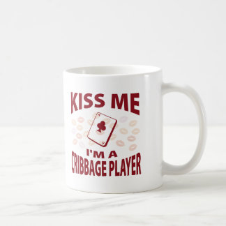 Kiss Me I'm A Cribbage Player Coffee Mug