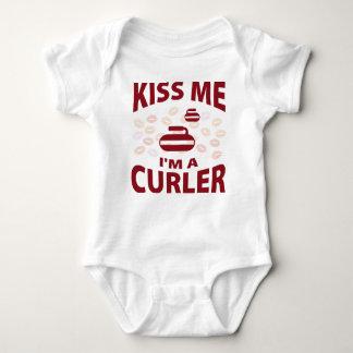 Kiss Me I'm A Curler Baby Bodysuit