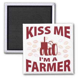 Kiss Me I'm A Farmer Magnet