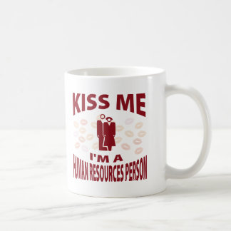 Kiss Me I'm A Human Resources Person Coffee Mug