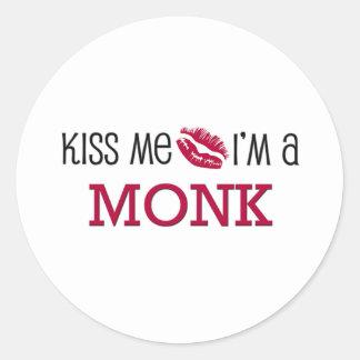 Kiss Me I'm a MONK Sticker