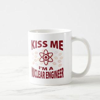 Kiss Me I'm A Nuclear Engineer Coffee Mug