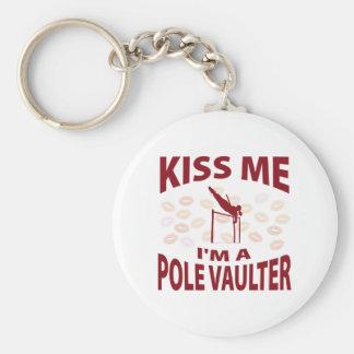 Kiss Me I'm A Pole Vaulter Keychain