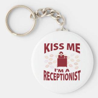 Kiss Me I'm A Receptionist Keychain