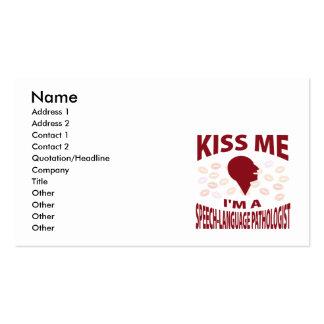 Kiss Me I'm A Speech-Language Pathologist Business Card
